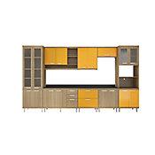 Cozinha Tampo Argila 51,5x231,5cm Amarelo