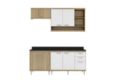 Cozinha Tampo Argila 51,5x231,5cm Branco