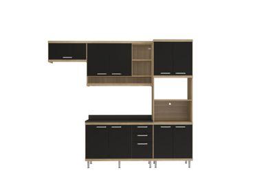 Cozinha Tampo Argila 51,5x231,5cm Preto