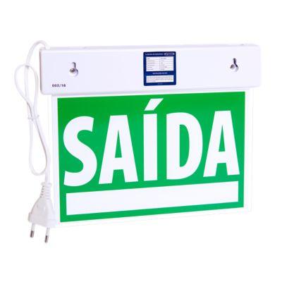 Sinalizador de Saida Slim Df Emergencia com Adesivo 110/220V