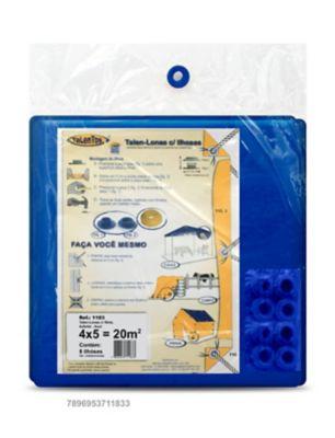 Talen Lonas com 8 Ilhoses 4x5cm Azul