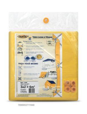 Talen Lonas com 4 Ilhoses 3x2cm Amarelo