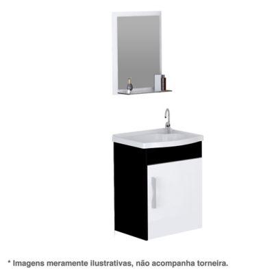 Kit Turim Suspenso 1 Porta 39x29,2x44,5cm Preto