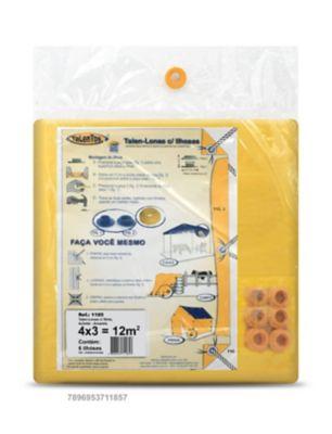 Talen Lonas com 4 Ilhoses 4x3cm Amarelo