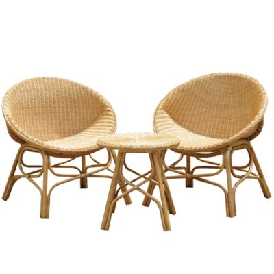 Conjunto de Mesa e Cadeira Miranda 3 Peças Marrom