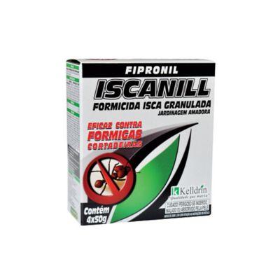 Iscanill Formicida Granulada 4 Sachês 50g Cinza