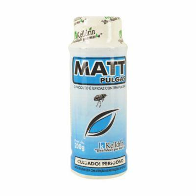 Matt Pulgas Mata Pulgas Talqueira 200g Azul Claro
