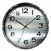 Relógio 25cm Prata Cromado