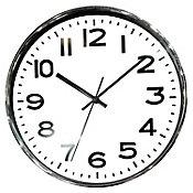 Relógio 30cm Branco Cromado