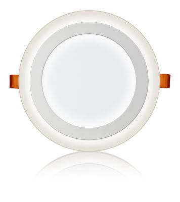 Luminária 3 Estágios Redonda de Embutir Led 18W+6W 6500K+6500K Bivolt Branco
