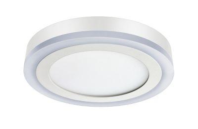 Luminária 3 Estágios Redonda de Sobrepor Led 18W+6W 6500K+3000K Bivolt Branco