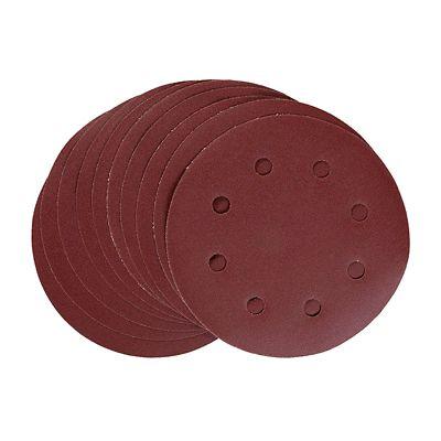 Disco de Lixa Velcro G240 8 Furos 180mm 10 Peças