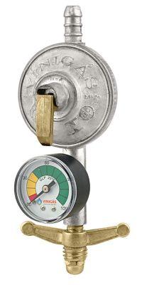 Regulador De Gás Com Registro Com Indicador De Pressão Manômetro