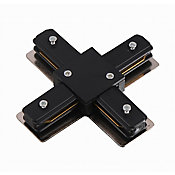 Conector Metal X para Trilho Eletrificado Bivolt 10,62x10,62cm Branco