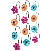 Set 12 Ganchos Flores Colorido Home Collection