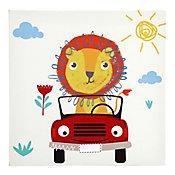 Quadro Canvas Infantil Leãozinho 30x30cm Colorido
