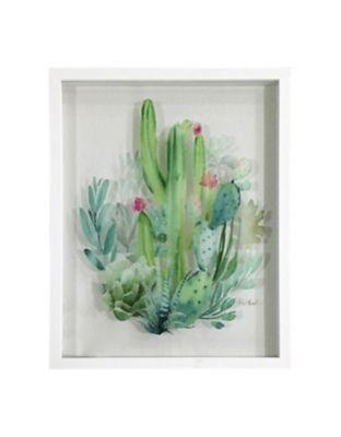 Quadro Cactus 45x53cm Verde