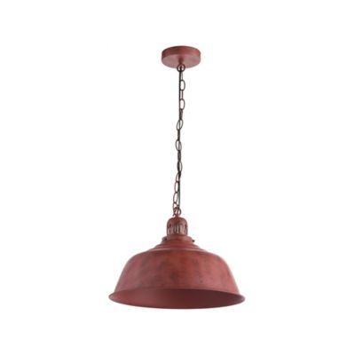 Luminária Pendurada Chieti 1 Lâmpada Vermelho
