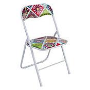 Cadeira Dobrável Mosaico Colorido