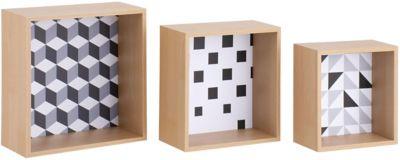 Set 3 Nichos Cubo com Desenho
