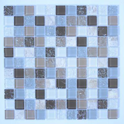 Pastilha de Vidro e Pedra Elegance Avelã 29,5x29,5cm Bege