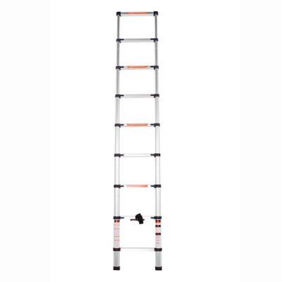 Escada Telescópica de Alumínio 8 Degraus de 2,6m Prata Bel Fix