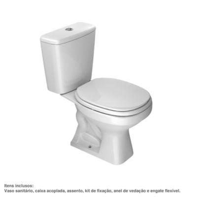 Kit Vaso sanitário e Caixa Acoplada Aspen 75x37,5x65cm Branco