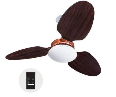 Ventilador de Teto Zenys LED com Controle Remoto 127V Tabaco