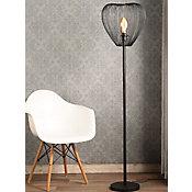 Luminária de Piso Leiden Metal 1 Lâmpada E27 40W Preto
