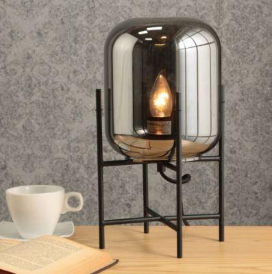 Luminária de Mesa de Vidro e Metal Oss 1 Lâmpada E27 40W Preto