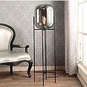 Luminária de Piso de Vidro e Metal Oss 1 Lâmpada E27 40W Preto