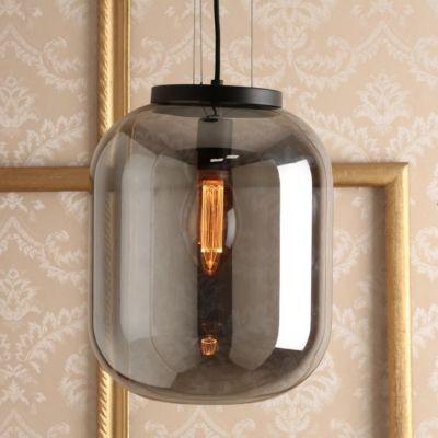 Luminária Pendente de Vidro e Metal Oss 1 Lâmpada E27 40W Preto
