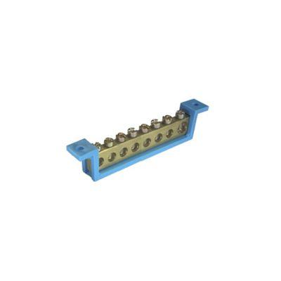 Barramento Neutro Azul 8 Terminais -89mm