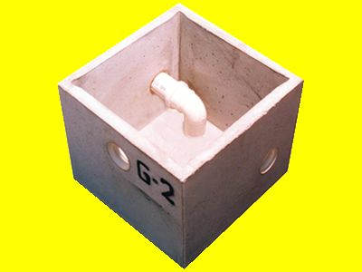 Caixa De Gordura De Concreto Sem Tampa G-2 35X35Cm