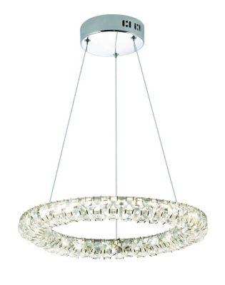 Lustre Luminária Pingente Led Serpens 26W 55cm 4500K Prata