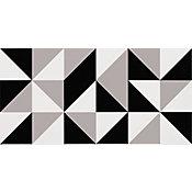 Revestimento Bauhaus Acetinado 45x90cm Caixa 2 Peças Cinza