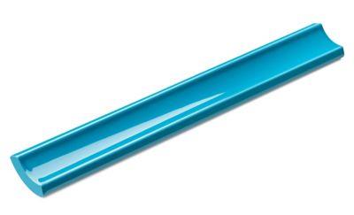 Canaleta Interna Azul Mar 2,5x20cm Brilhante