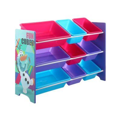 Organizador Frozen 9 Caixas 84x30cm Azul