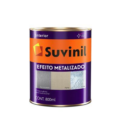 Base Acrílico Efeito Metalizado 800ml Transparente