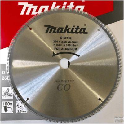 Lamina de Serra Tct260x25.4mm 100t para Alumínio