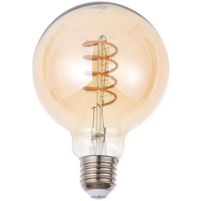 Lâmpada de Filamento LED 4W G95 E27 Âmbar