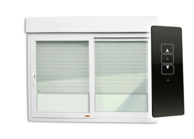 Janela Integrada com Controle Remoto 220V PVC Branco 2 Folhas Móveis 120x120x6cm Itec