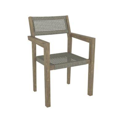 Cadeira Lugano em Madeira e Rattan 53x57x85 cm Taupe