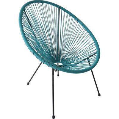 Cadeira Cozumel Ratan 71x79x86cm para Área Externa Azul
