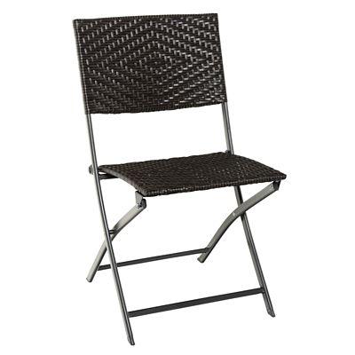 Cadeira Dobrável de Rattan de Cannes Marrom