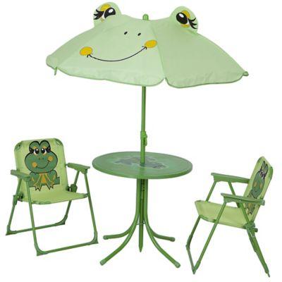 Conjunto de Mesa e Cadeira Infantil Sapo Dobrável com 4 peças