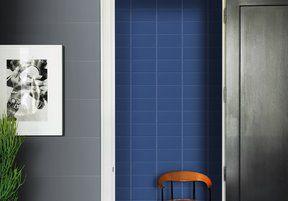 Revestimento Paris Bleu Marine Brilhante 10x20cm Caixa 0,37m² Bold Azul