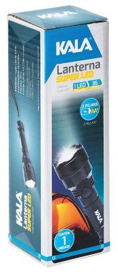 Lanterna De Mão Super Led Para Uso Com 2 Pilhas Pequenas Aa Não Incluídas