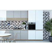 Pastilha de Vidro Multi Mix Cinza Branco e Preto 30x30cm