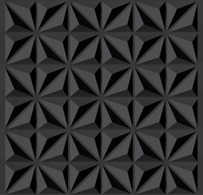 Tecido Adesivo Bobina 50x300cm Estrela 3D Preto